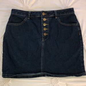 Dark Denim Jean Skirt